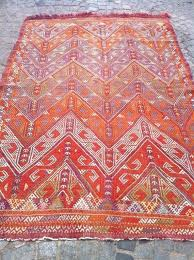 red kilim rug rug decorative orange red rug handwoven wool rug x inch striped red kilim