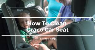to clean graco car seat