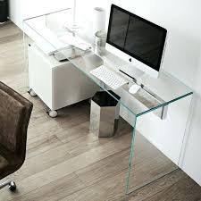 glass desk ultra minimalist home office with a clear glass desk looks disappearing in the air glass desk
