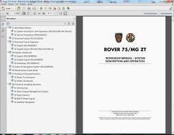 rover wiring diagram rover image wiring diagram rover 75 and tourer workshop service repair manual wiring on rover 75 wiring diagram