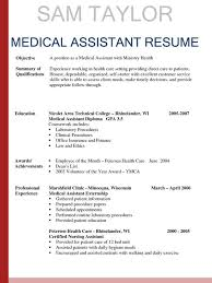 Medical Assistant Resume Templates Free Fascinating Medical Office Assistant Resume Sample From Medical Field Resume