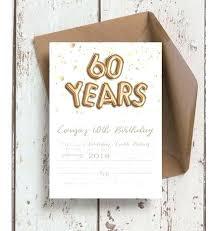 Creative 60th Birthday Invitations Surprise Birthday Party