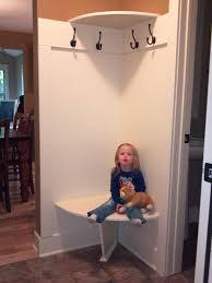 Corner Mudroom Bench Corner Bench And Shelf For Small Mudroom For The Home