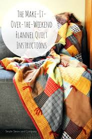 The Make-It-Over-The-Weekend Flannel Quilt Instructions - Simple ... & Flannel Squares Quilt Make it Over the Weekend Adamdwight.com