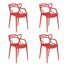 dining chairs modern design. set of 4 masters dining chairs modern design armchair indoor outdoor stackable