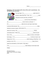 Fill in the Blank: Verb Tense Worksheet for 3rd - 5th Grade ...