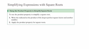 using the square root property to solve quadratic equations chapter 7 section 3