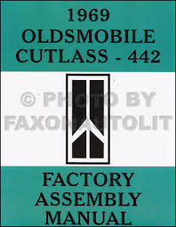 1969 olds cutlass f 85 442 wiring diagram manual reprint related items