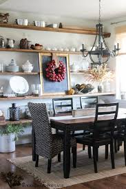 Fall Home Tour by The Wood Grain Cottage #EclecticallyVintage gorgeous dining  room with apple wreath