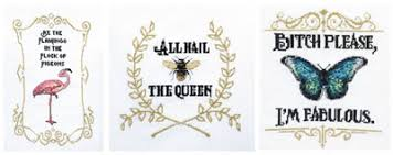 Queen Bee Colour Chart Cross Stitch Chart Pack Mobile Version