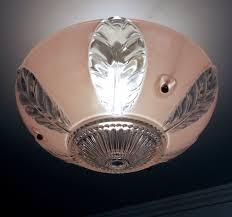 antique 1930s vintage petite art deco pink glass ceiling light fixture whatu0027s it worth