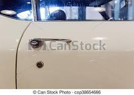 classic car door handle. Car Door Handle Old White Lock - Csp38654686 Classic A