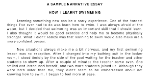 example of narrative essay writing Free Essays and Papers
