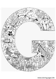 Read a favorite story with them. Animal Alphabet Letter G Coloring Pages Printable