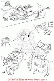 yamaha xs750 2 1977 usa electrical 1 schematic partsfiche electrical 1 schematic