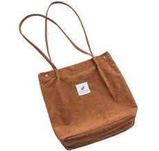 "Belsmi <b>Corduroy</b> Shoulder Totes <b>Bag</b> (13"" Brown): <b>Handbags</b> ..."