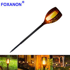 new solar flame led flame light fire effect lawn lamps torch light realistic flicker ip65 outdoor garden decor night lighting in led bulbs s from