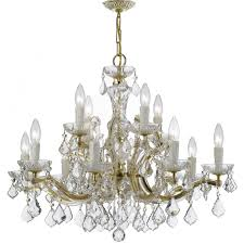 crystorama maria theresa 12 light crystal chandelier