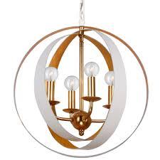 crystorama luna 4 light white gold sphere mini chandelier