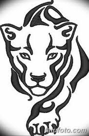 черно белый эскиз тату с черной пантерой 11032019 040 Tattoo