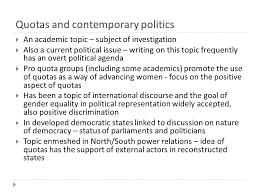 quotas and contemporary politics iuml frac an academic topic subject of 1 quotas and contemporary politics iuml129frac12 an academic topic