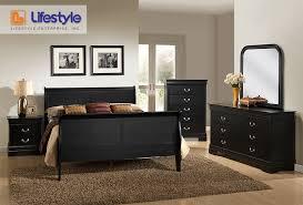 Superior Lifestyle Black Queen Sleigh Bedroom Set