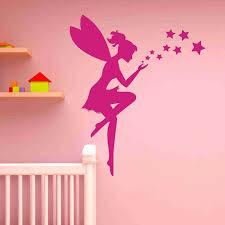 fairy and stars wall decal sticker girl s room vinyl wall art nursery wall decor on stars vinyl wall art with fairy and stars wall decal sticker girl s room vinyl wall art