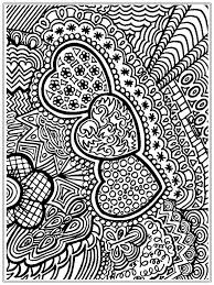 Heart Adult Flower Coloring Pages Printable 3093 Adult Flower
