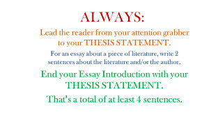 essay introductions attention grabbers i startling information  always lead the reader from your attention grabber to your thesis statement