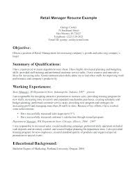 Perfect Retail Resume Resume Objective Examples For Retail Best