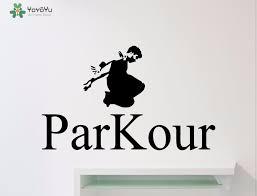 <b>YOYOYU Wall Decal</b> Cool Sport Parkour Wall Sticker Boys Bedroom ...