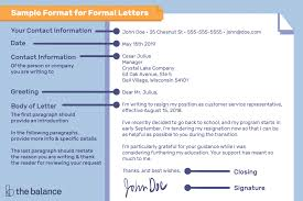 Typing Business Letter Sample Format For Writing A Letter