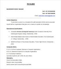 standard format resume sample 40 examples btech freshers standard resume format template