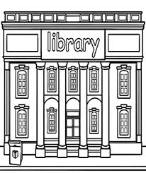 Small Picture Library Building Coloring Pages Library Building Coloring Pages
