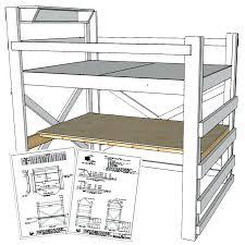 loft beds with desk plans free desk plans for loft bed