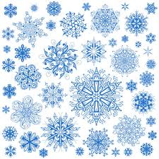 Snowflake Patterns Enchanting Different Snowflake Patterns Design Elements Vector 48 Free Download