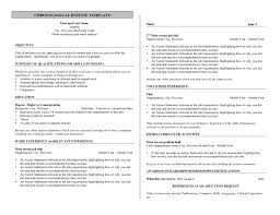 Chronological Resume Templates Free Business Resume Template Free