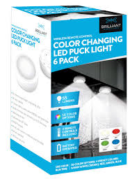 Strand Lighting 6 Pack Brilliant Evolution Wireless Color Changing Led Puck Light 6