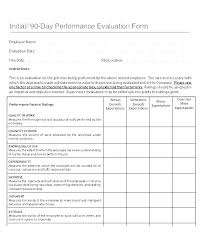 Employee Comments On Performance Evaluation Free Self Evaluation Examples Performance Template Questions