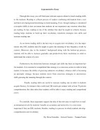 argumentative essay didactics