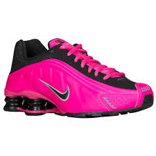 nike shoes for girls pink and black. nike shox r4 girls grade school running shoes black/pink/metallic grey for pink and black