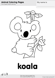 Small Picture Koala Coloring Page Super Simple