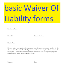 Basic Waiver Of Liability Form Doc And Pdf Formats Sample Stunning Liability Waiver Template Word