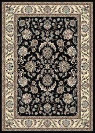radici usa alba 1769 black traditional area rug