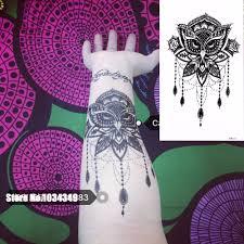 1 шт поддельные черный сова тело временные татуировки руку назад