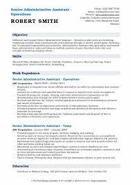 Senior Administrative Assistant Resume Samples Qwikresume