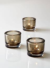 Wedding Tea Light Holders In Bulk Smoke Thick Glass Tea Light Holder Set Of 3 Tea Lights