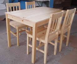 Pine Kitchen Table And Chairs Pine Table Knotty Pine Dining Room Set Bettrpiccom
