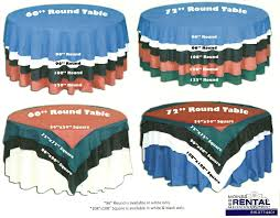 table cloth chart for round table linens al decoration cool
