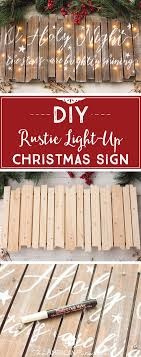 Wooden Christmas Sign With Lights Diy Rustic Light Up Christmas Sign Art Bar Christmas